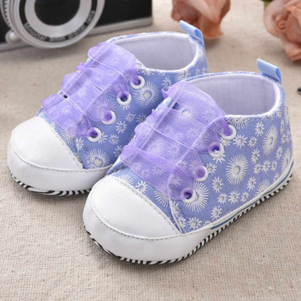 Zapatos para recién nacidos lindos zapatos para niños y niñas con estampado de vendaje zapatos de lona zapatos de bebe nenas1.789