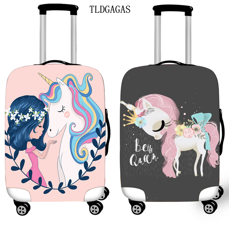 Exclusive Unicorn Luggage Cover Elasticity Case Suitcase Covers Trolley Baggage Dust Protective Case Cover Travel Accessories
