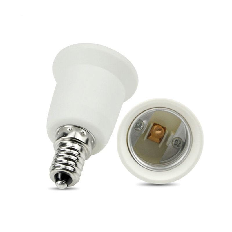 E14 to E27 Adapter Socket Holder Converter Fireproof Flame Retardant Material For E14 E27 Base LED Light Bulb Lamp