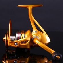 Sougayilang Freshwater Saltwater Fighter Spinning Fishing Reel 14BB 5.5:1 Metal Spool Carp Fishing Reels Coil Wheel Tackles