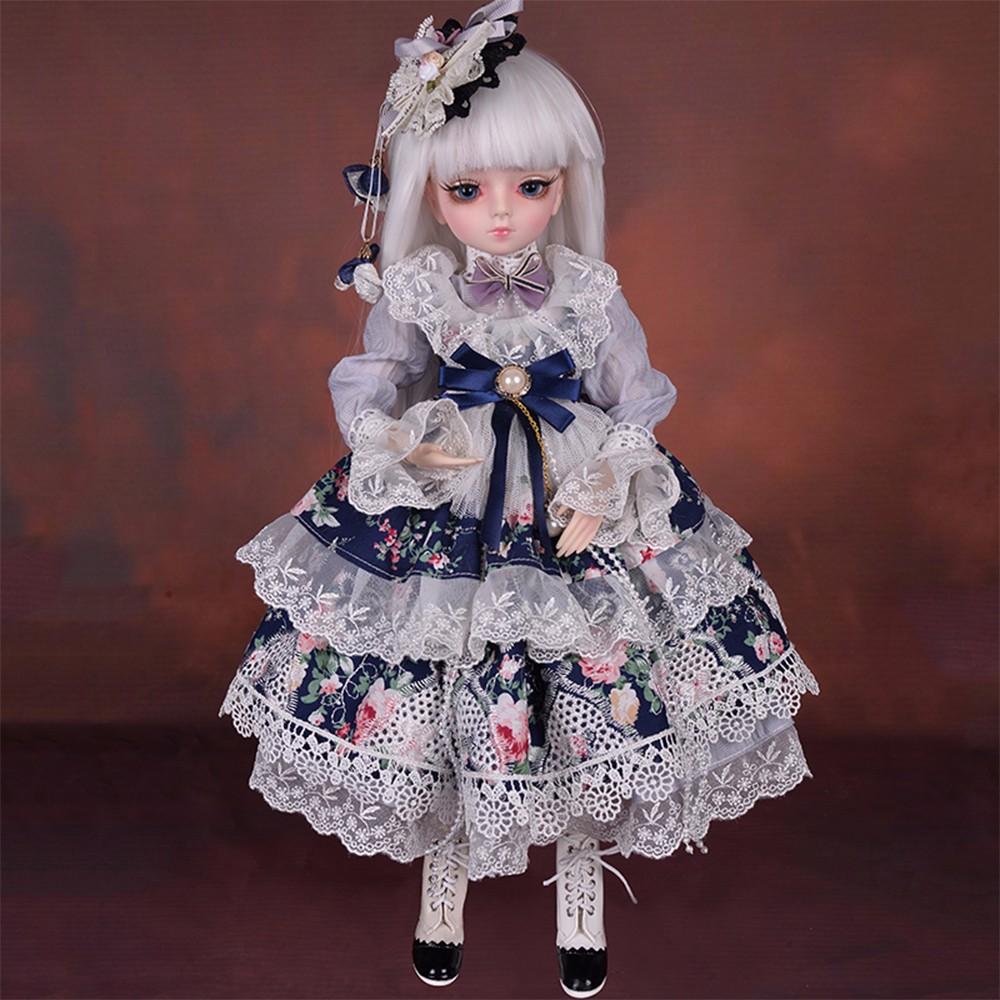 45CM Handmade BJD Dolls With BJD Clothes Wigs Shoes 100% Makeup Princess Beauty Toys Silicone Reborn Doll Toy For Children Gift45CM Handmade BJD Dolls With BJD Clothes Wigs Shoes 100% Makeup Princess Beauty Toys Silicone Reborn Doll Toy For Children Gift