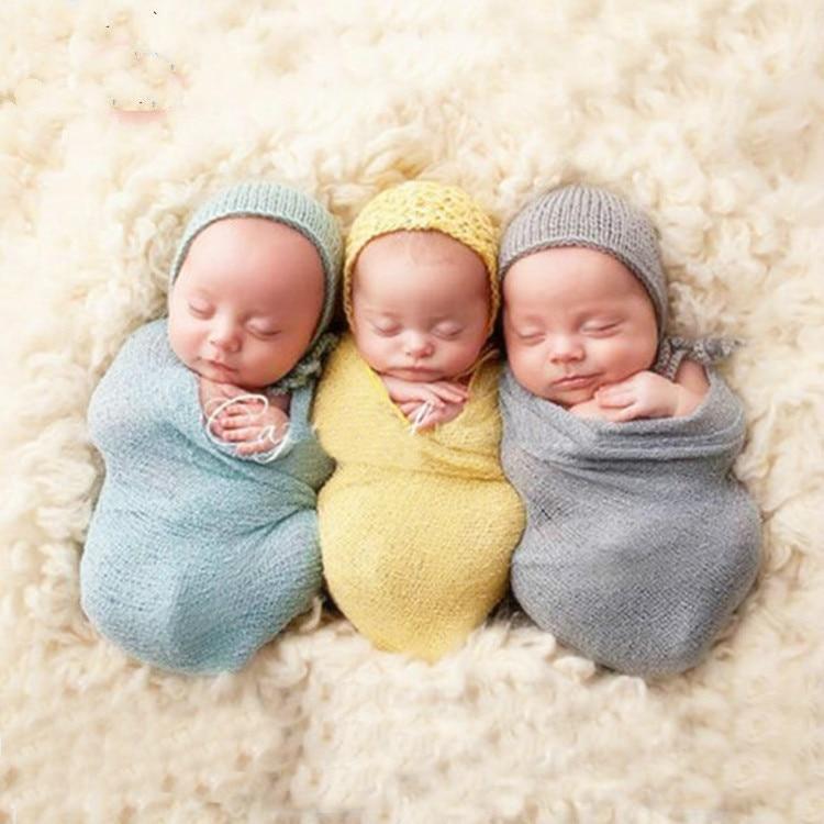 40 150cm Newborn Infant Baby Chunky Knit Wrap Blanket Baby