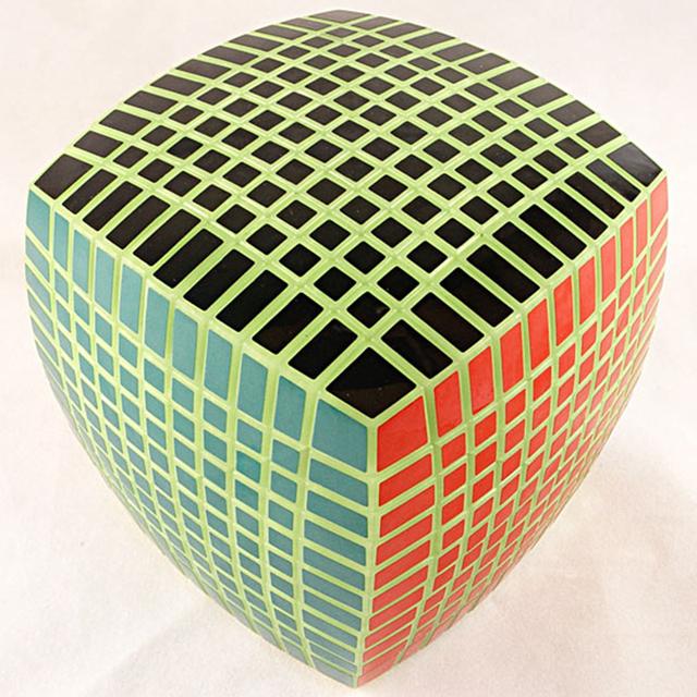 Yuxin Zhisheng Glow in the Dark 11x11x11 Velocidad Cubo Mágico Puzzle Cubos Juguetes Educativos Para kids Niños Regalo de Cumpleaños