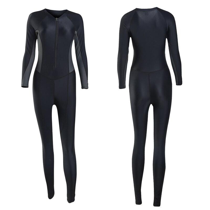 2019 Nouveau Style Femmes de corps entier Sous-Marine Surf Plongée Combinaisons d'une Seule pièce Salopette Snorkeling Retour Zip combinaison isothermique 81109 - 3