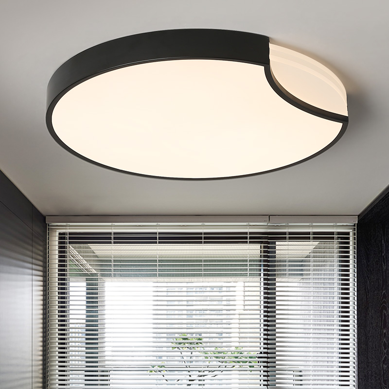 Round White/Black Modern Led high quality ceiling lights for living study bedroom Kids Room ultra-thin Hot ceiling lamp Fixture black or white rectangle living room bedroom modern led ceiling lights white color square rings study room ceiling lamp fixtures