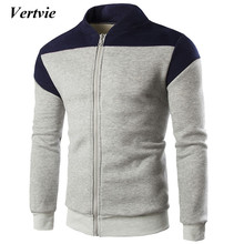 Vertvie Mandarin Collar Windbreaker Tracksuit For Men Long Sleeve Sport Jacket Running Men's Tracksuits Fitness Sportswear