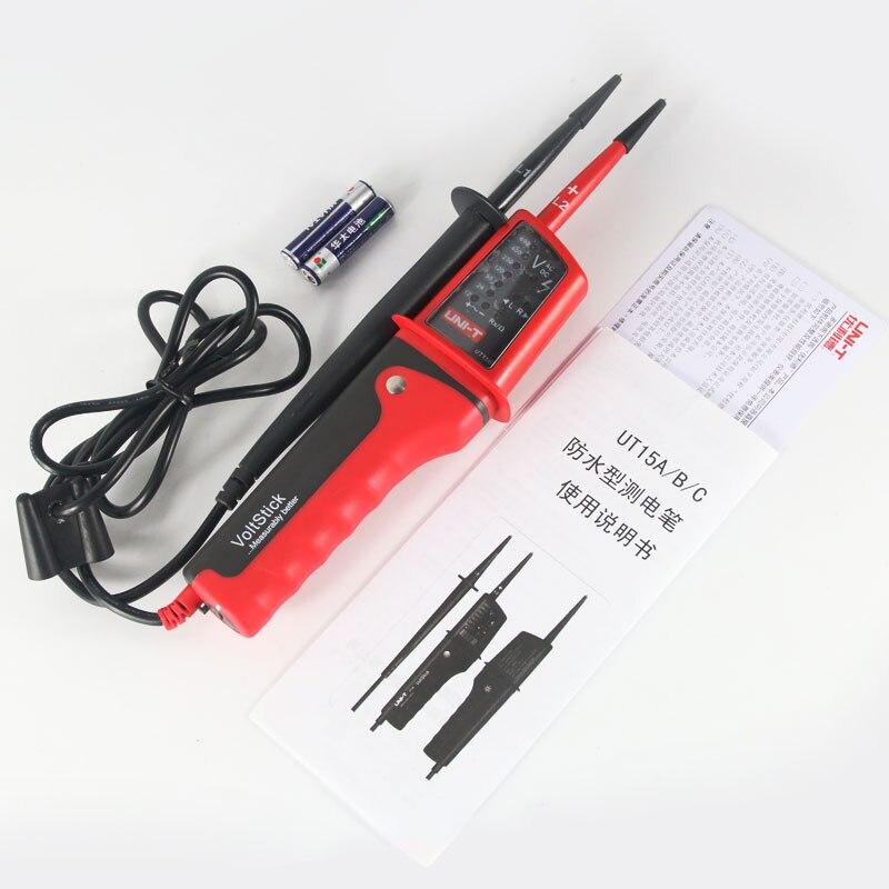 Цифровой измеритель напряжения UNIT-T UT15C DMM, вольтметр, инструмент, UT-15C многофункциональные тестеры напряжения