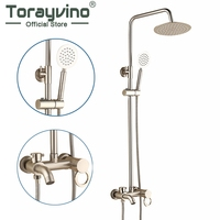 Fashion Style White Shower Faucet Cold And Hot Water Mixer Single Handle Adjustable Rain Shower Bar