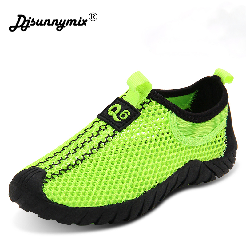 DJSUNNYMIX New Children Shoes Fashion Breathable Non-slip Mesh Sneakers Boys And Girls Casual Running Shoes Kid autumn girl and boy loafers shoes sneakers slip on girls winter kid casual boys shoe black breathable children flats sporting shoes