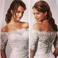Glamorous White Ivory Bride Wraps Jacket Bolero Shawl Half Sleeve Lace Wedding Accessories 2017