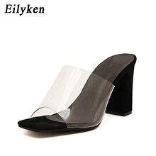 Eilyken Zomer Mode Vrouw Sandalen Ondiepe Rome Mond Vrouwelijke Casual Vierkante Hak Dames Dikke Sandalen Schoenen Wit Zwart Maat 40