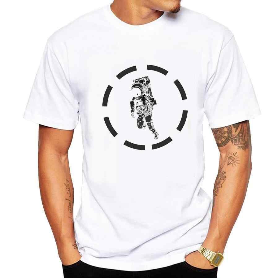 new fashion summer short sleeve cool Astronaut printed men t shirt 100% cotton comfortable casual men t-shirt 2018