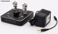 super mini 6C11 tube valve headphone amplifier amp tereo HiFi Amp with LED VU meter + power supply