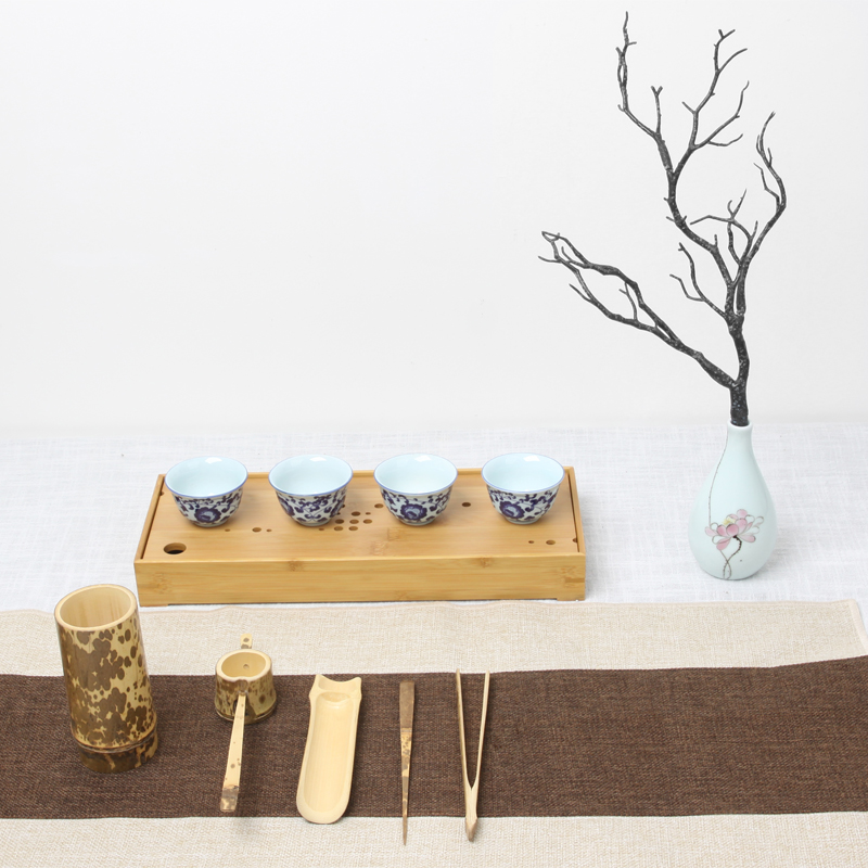 Natural Bamboo Tea Accessories Set 3