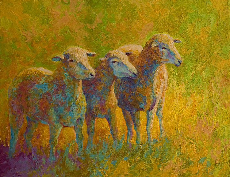 Animal Walking Sheep Modern Abstract Wall Art Oil Painting On Canvas ...