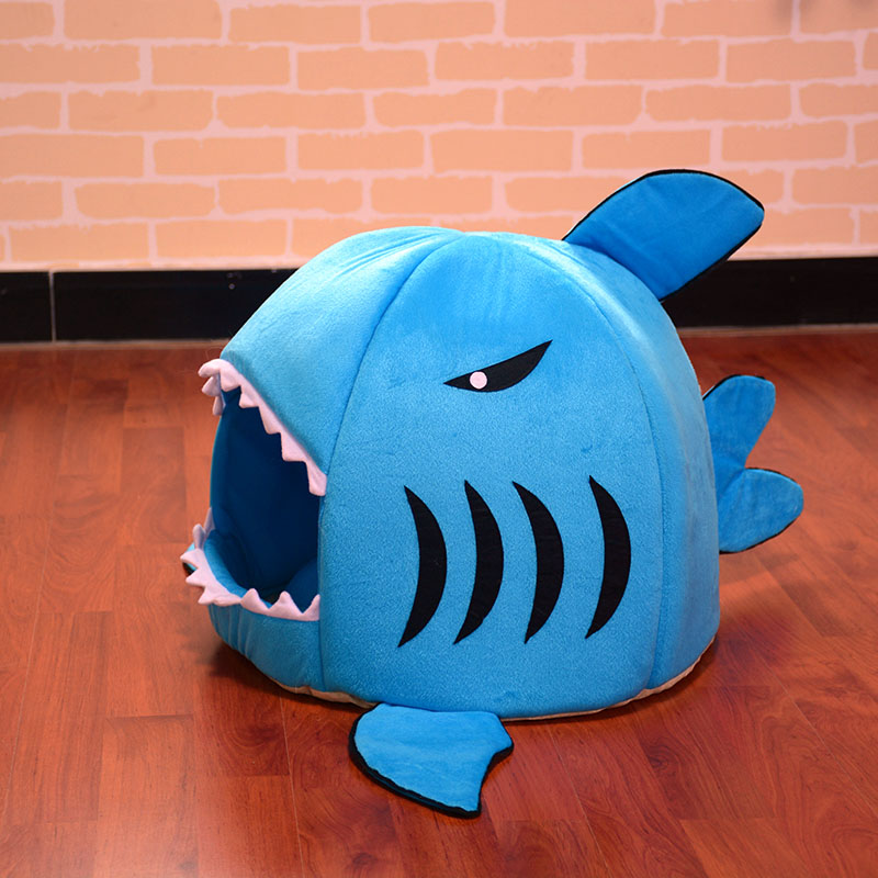 Mignon pet produits de couchage requin chat maison literie panier petit moyen chiot litière chien lit transat pour animaux cama accueil chenil dans maisons