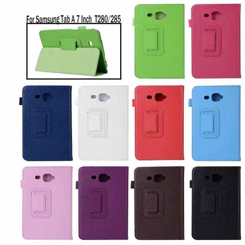 "Tablet Case untuk Samsung Galaxy Tab A6 7.0 ""T280 T285 SM-T280 SM-T285 Smart Cover Case Tablet Flip stand Cangkang Pelindung"