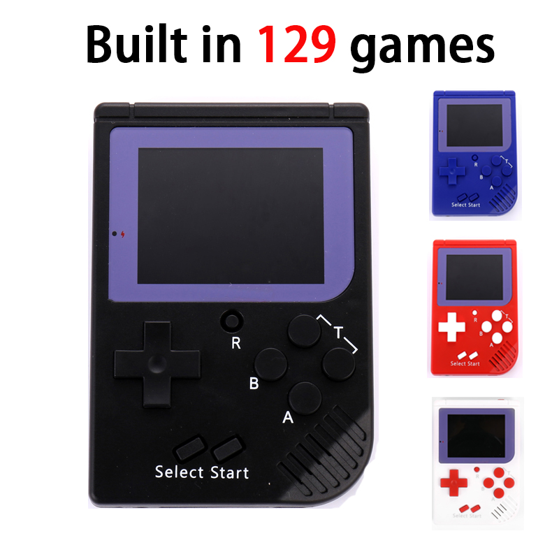Retro Mini Console Childhood Classic Game With 129 Player Games 2.5 8Bit PVP Portable Handheld Game Console Best gift for kids