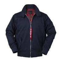 2018 Autumn harrington vintage windbreaker bomber jacket men european style military plus size cotton casual waterproof safari