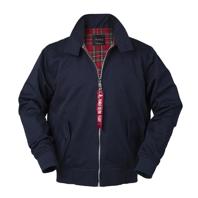 2018 Mùa Thu personalized harrington cổ điển áo gió bay ném bom người đàn ông áo khoác phong cách châu âu quân sự cộng với kích thước cotton thường không thấm nước safari