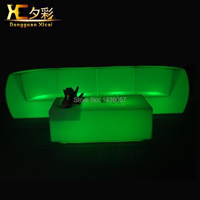Sofás de plástico luminoso sofá muebles de la barra de mesa que ...