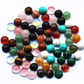2016 Fashion Hot Selling Top Quality Assorted Natural Stone Round Cabochon 8mm Stone Beads 50pcs/lot Wholesale Free Shipping