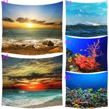 Comwarm océano submarino del mundo de fantasía animales patrón tapiz colgante de pared del duende del parque de la playa de picnic yoga mat decoración artesanía