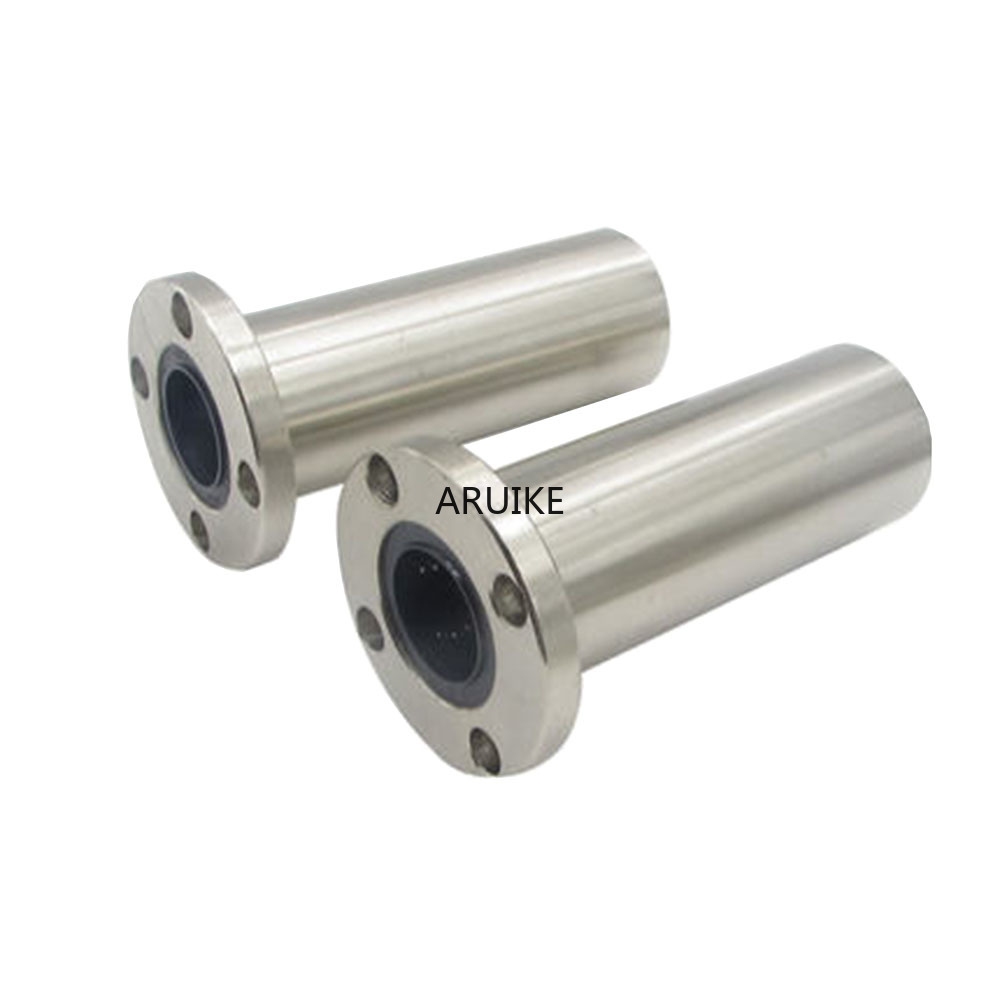 1PCS 6mm/8mm/10mm/12mm LMF6LUU/LMF8LUU/LMF10LUU LMF Long Type Series Round Flange Coupling Linear Motion Bearing For Rod shaft