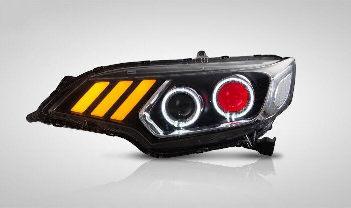 V1 type 2014-2018 Headlights for Honda FIT JAZZ hid bi-xenon lens LED DRL light LED Sequential Indicator turn light