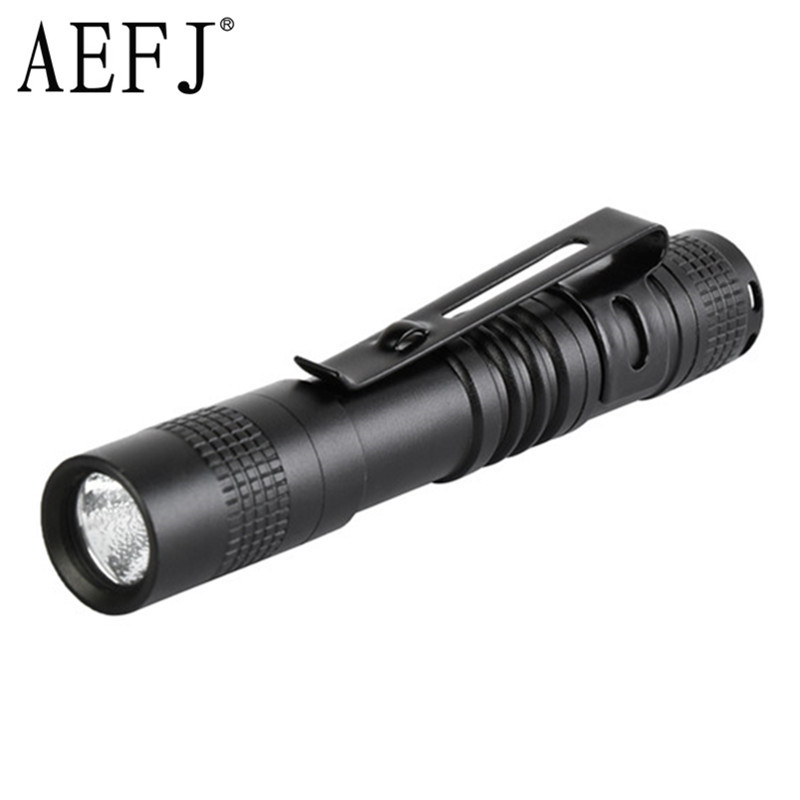 Mini Portable LED Flashlight R5 Work Light Lanterna Powerful Pen Torches Lamp 1-Modes AAA Outdoor Camping Lighting