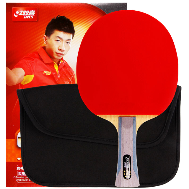 DHS Double Happiness 6002 6006 table tennis racket double reverse indoor sport Ping Pong Racket fast loop with covers up