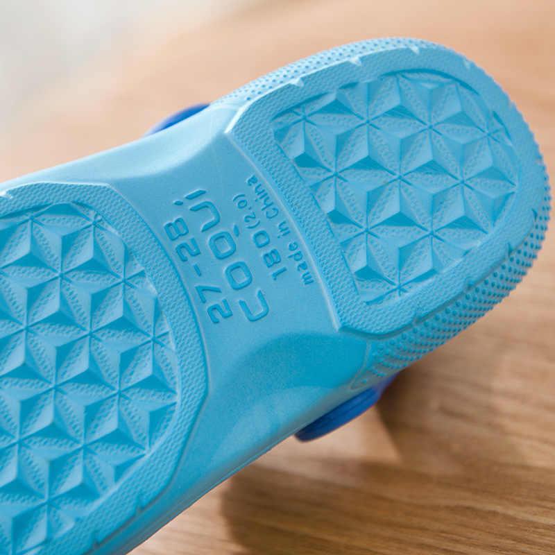 2019 nuevo verano niños dibujos animados cueva Zapatos niños niñas Mickey zapatillas Sandalias EVA antideslizante zapatillas de playa resistente al desgaste