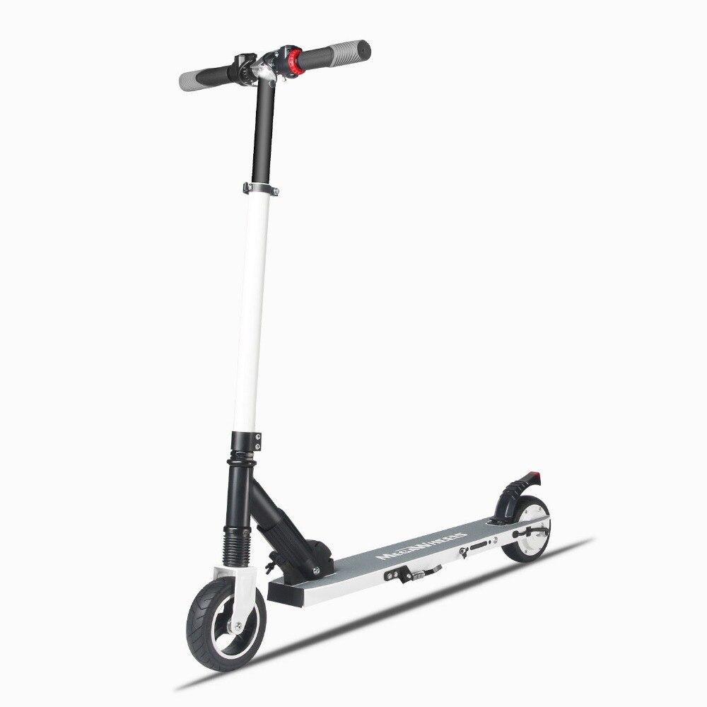 Nouvellement Longboard Scooter électrique pliable 2 roues Scooter électrique en aluminium Mini Scooter Portable pour adulte vitesse 23 km/h