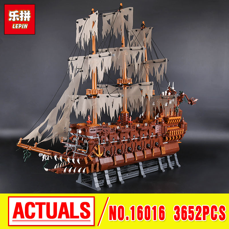 New Lepin 16016  MOC Movies Series The Flying the Netherlands Set Building Blocks Bricks Educational new lp2k series contactor lp2k06015 lp2k06015md lp2 k06015md 220v dc