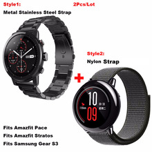 Купить с кэшбэком for Amazfit Smart Watch Bracelet Strap 22mm Correa Band for Huami Amazfit Pace Stratos 2 for Samsung Gear Classic S3 Frontier