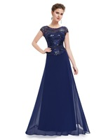 Short Sleeve Navy Blue Mother Of The Bride Dresses Ever Pretty HE08818 2017 Lace Mother Of