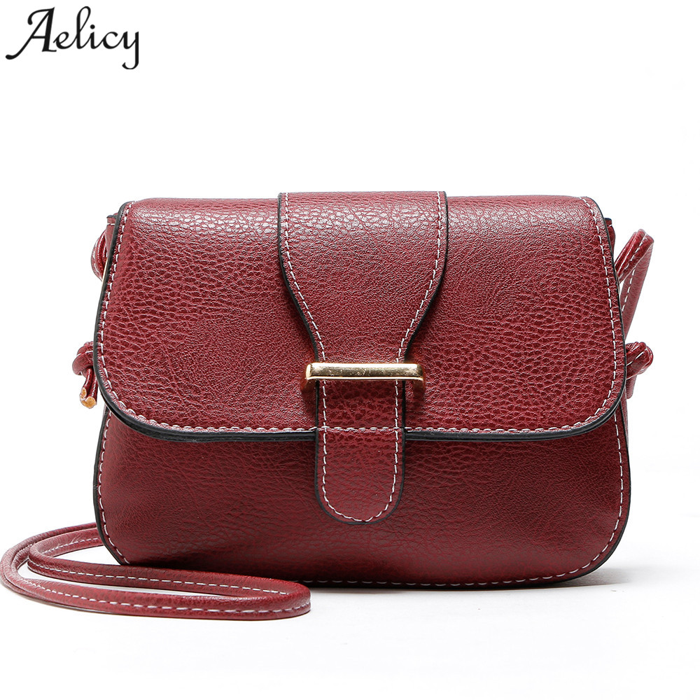 ea494d6294 Tracolla Di Crossbody Womentop New Aelicy Signora A Calda Pelle Per Della  Mini Flap brown wine Black Brand yellow khaki Borsa 2018 In Vendita Pu Bag  Borse ...