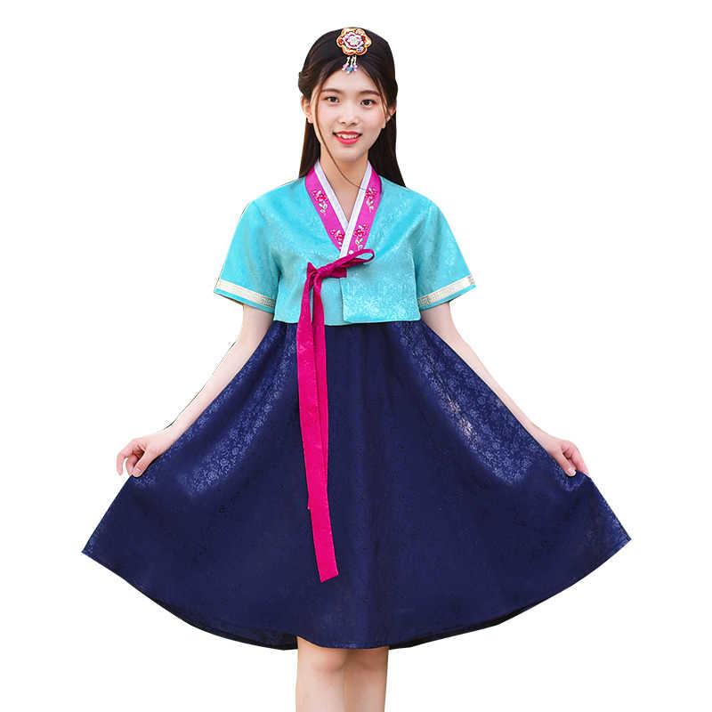 משפט עתיק Hanbok רקום תלבושת קוריאה מסורתית Hanbok שמלת לנשים אלגנטי נסיכת אוריינט ביצועי בגדים