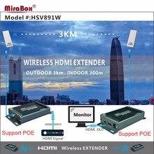 5.8GHZ HDMI Wireless Extender Support 1080P HDMI Wireless Extender Support Outdoor 3KM Wireless HDMI Transmission Extender