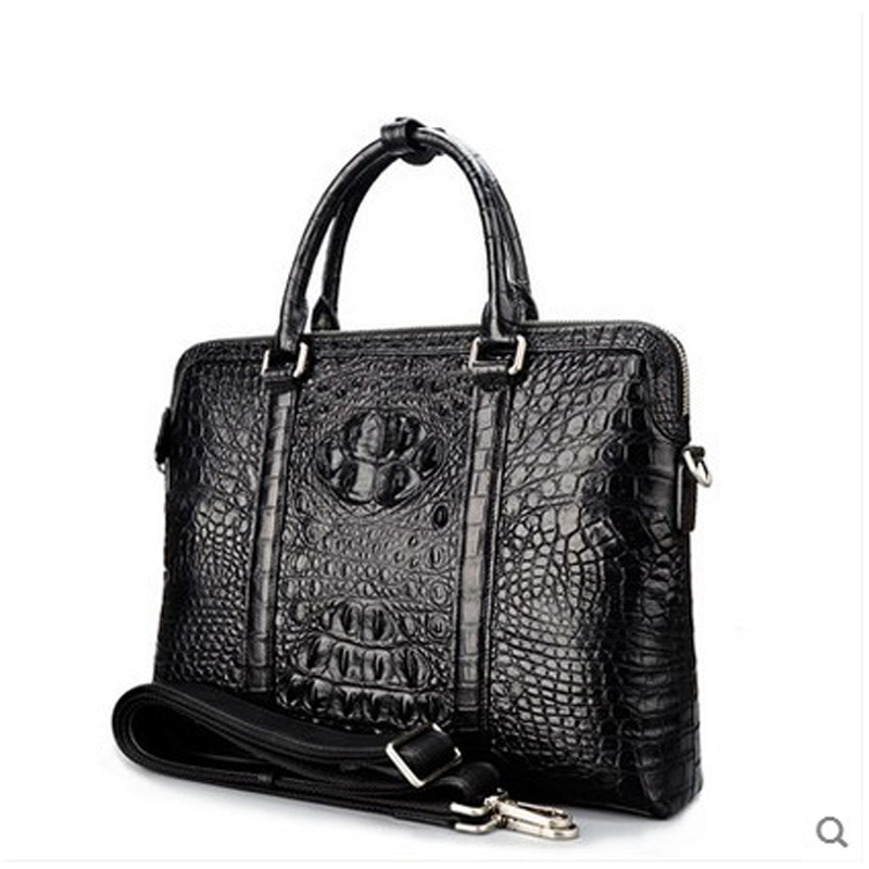 jialante crocodile Large bags of men's business leather single shoulder bag with a handbag jialante 2017 new lizard leather bag is made of simple small shell bag customized for 15 days