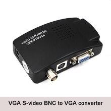 BNC VGA Video dönüştürücü s video girişi PC VGA adaptörü dijital Switcher kutusu PC TV kamera DVD DVR