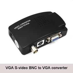 Image 1 - BNC vga ビデオコンバータ S ビデオ入力に PC の VGA 出力アダプタデジタルスイッチャー Pc のテレビカメラ DVD DVR