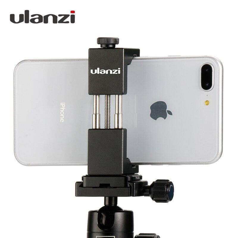Ulanzi EISEN MANN Smartphone Stativ Halterung Universal Aluminium Metall Telefon Stativ Adapter Halter Stehen für iPhone X 8 7 plus samsung