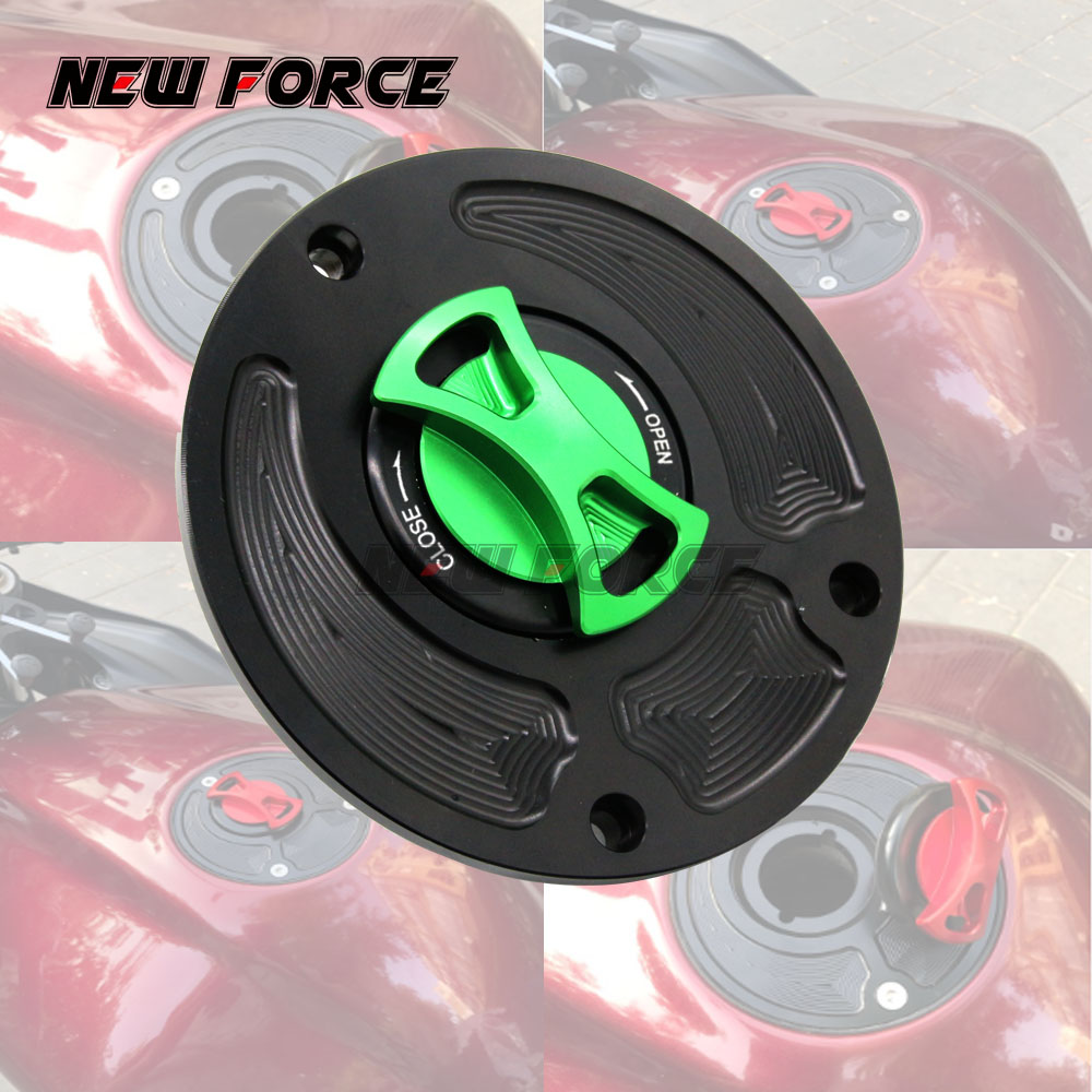 Motorcycle Gas Fuel Tank Cap Cover For Kawasaki Zx10r Zx6r Zx14