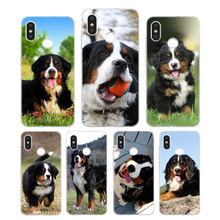 Silicone Phone Case Fashion Bernese Mountain Dog Printing for Xiaomi Mi 6 8 9 SE A1 5X A2 6X Mix 3 Play F1 Pro Lite Cover