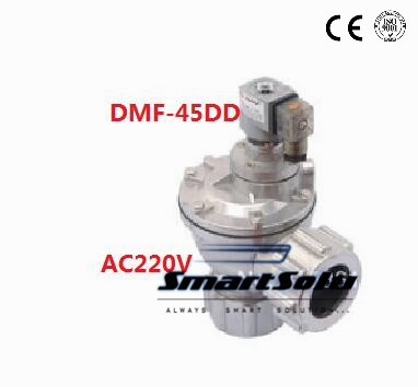 Free Shipping 2PCS/Lot 50mm Right Angle Belt Nut Pulse Valve DMF-45DD AC220V