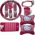 1 set Steering wheel covers gear shift collars cover handbrake grips cover car seat cover Car Styling accessories hello kitty