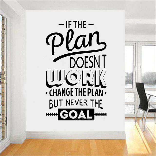 Motivation Words Vinyl Wall Decal for Office Inspire Quotes Wall ...