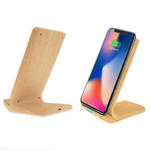10W Fast Qi Wireless Charger Quick Wireless Charging Phone Stand For Samsung Galaxy S9 S8 S7 Note8 iPhoneX 8 8Plus Charger Dock