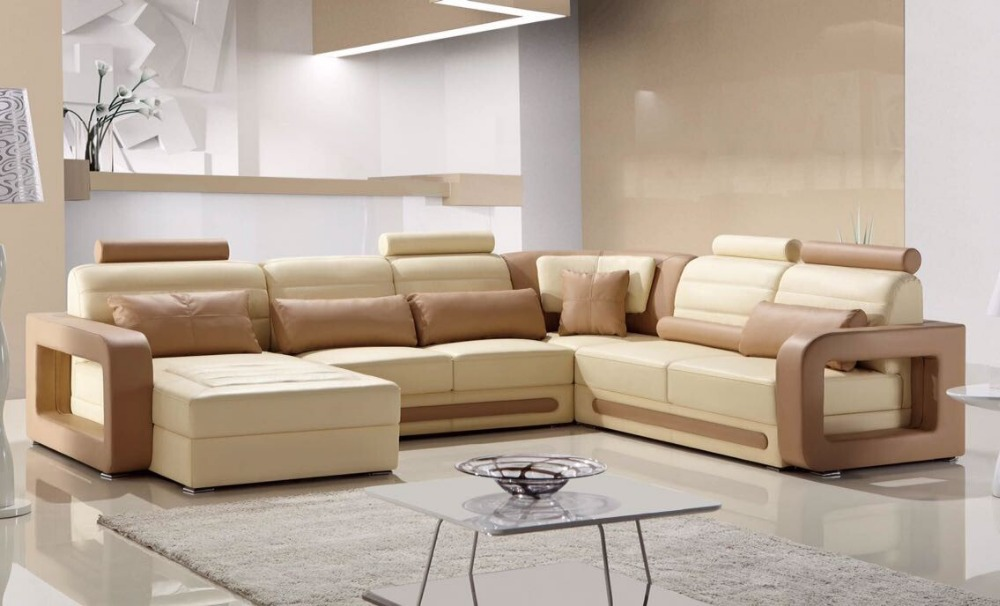Comfortable Adjustable Genuine Leather Recliner Sofa Set Type Living Room